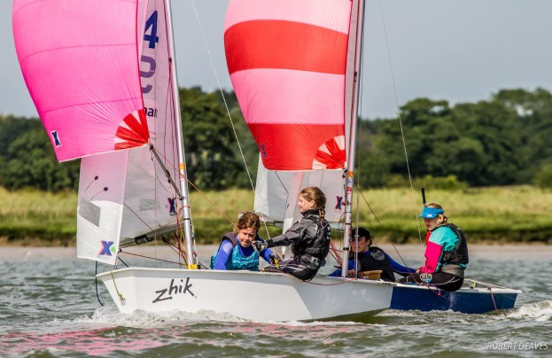 Junior racing at Waldringfield Sailing Club
